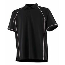 NEW Finden Hales LV370 Mens Piped Performance Coolplus® Polo Shirt