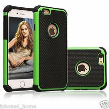 Heavy Duty Tough Armor Dual Layer Green Case For iPhone 5/5s & 6/6s & 6/6s Plus
