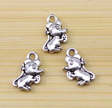 40/100/300 pcs Very lovely Tibetan silver mice charm pendant 12x8 mm