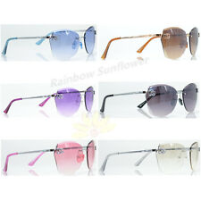 Mens Women DG Eyewear Fashion Rimless Oversized Designer Sunglasses Shades 8035