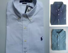 NEW Men Polo Ralph Lauren SHORT SLEEVE Shirt Size S M L XL XXL - STANDARD-FIT.