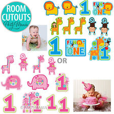 BOY OR GIRL 1ST FIRST BIRTHDAY PARTY FUN TO BE ONE CUTOUT DECORATIONS PACK OF 12