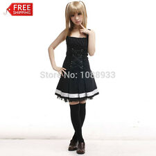 Adult Anime Death Note Costume Women Misa Amane Cosplay Gothic Lolita Dress