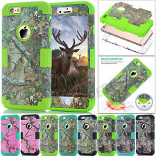 Armor Camo Skin Hybrid Shockproof Rugged Case Cover For iPhone 5S SE 5C 6S Plus