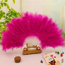 Lady Burlesque Wedding Hand Fancy Dress Costume Dance Stage Show Feather Fan