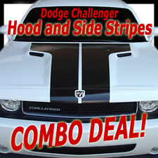 HOOD / BOLD STROBES Stripes Vinyl Decals Graphics 3M COMBO DEAL! for Challenger