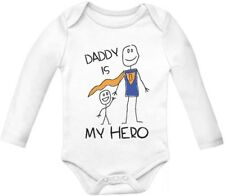 Daddy Is My Hero - Super Dad Bodysuit for Father's Day Baby Long Sleeve Bodysuit