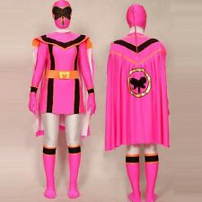 Pink Power Rangers Mystic Force cosplay adult Halloween costume bodysuit cloak