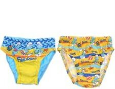 NEW SMURFS BLUE BOYS UNDERWEAR BRIEF 2 PACKET SIZE 3-4