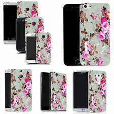 gel rubber case cover for  Mobile phones - pink rose silicone