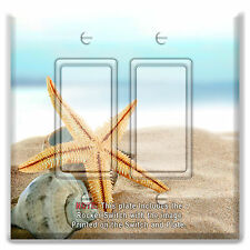 Light Switch Plate Cover Star Fish Sea Shell Beach w/ Rocker Switch or Outlet