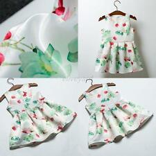 Baby Kids Girls Summer One-Piece Sleeveless Sundress Princess Dress Tutu Skirt