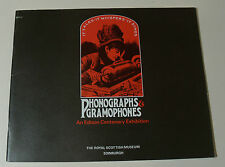 PHONOGRAPHS & GRAMOPHONES Edison Centenary Program 1977 Royal Scottish Museum