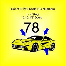 Race Car - Truck - Dirt Track 1/10 scale Number Set - Select Font Style & Color