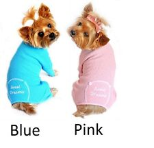 DOG PAJAMAS - Sweet Dreams Thermal Cotton Dog Pajama Available in Blue or Pink
