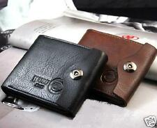 Mens Leather Wobu Wallet Magnetic Snap with Coin Pocket
