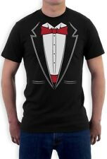 Printed Suit & Tie Tuxedo Red Bow Tie Bachelor Party T-Shirt Gift Idea