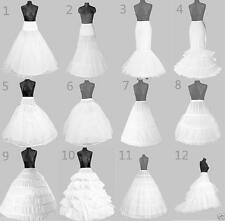 NEW WHITE BRIDAL WEDDING DRESS PROM HOOP PETTICOAT UNDERSKIRT SKIRT CRINOLINE