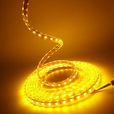 Golden yellow 110/220V High Power 5050 Flexible LED strip rope Lights Custom Cut