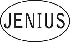 Jenius genius funny - choose sticker decal inside window static cling magnet