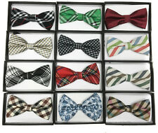 12 Fashion Unique Style Mens Womens Clip-on Sequin Bow Tie Tuxedo Accessories