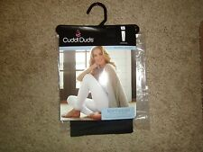 Cuddl Duds Softwear Legging Black Warm Layers with Lace Women NWT