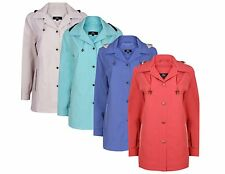 NEW LADIES LIGHTWEIGHT CLASSIC ANORAK JACKET DETACHABLE HOOD - SIZE 10-24