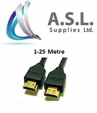 1-25Metre HDMI PREMIUM GOLD V1.4 Cable Male to Male HDTV 3D 1080P Full HD Lead