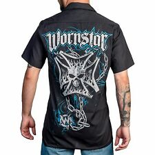 Wornstar Iron Cross Work Shirt Metal Rock Clothing Apparel