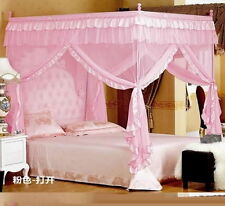 Pink Four Corner Post Bed Canopy Mosquito Netting Or Frame Post All Size QWE