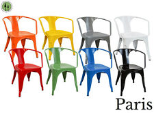 Tabouret Chairs Vintage Style 4 PC + Stacking Patio Chairs + Paris