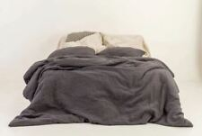 BEDDING SET of 3 pcs. Linen Duvet Cover and two Pillowcases, with wooden buttons
