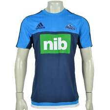 Adidas Blues Performance Rugby T-Shirt Blue