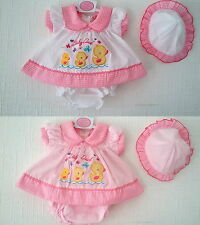 Premature Baby Girls Summer Dress Outfit Set Ducklings Hat Pants Reborn Newborn