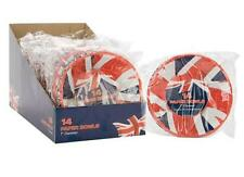 7 INCH UNION JACK PAPER BOWLS OLYMPICS BRITISH STREET PARTY QUEENS 90TH BIRTHDAY
