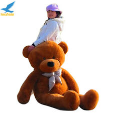 "Giant 160CM Big Cute Plush Teddy Bear Huge 63"" Soft Stuffed 100% Cotton Toy Gift"