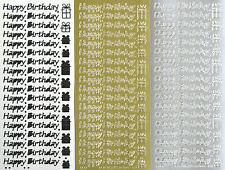 HAPPY BIRTHDAY Type 4 PEEL OFF STICKER Presents Dots Cardmaking