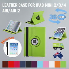 360 Rotating Leather Case Smart Cover Rotate Stand for Apple iPad 2 3 4 Air mini