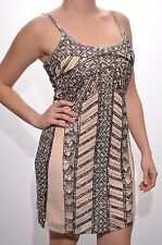 Embellished dress cami beaded sequin bodycon gatsby 1920's Size 4 6 8 10 12 14