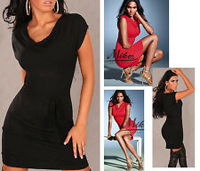 Sexy Stretch Mini Dress with Cowl neck and Belt Size. S M 36 38 NEW