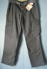 Men's Lee Premium Washed Khakis Cargo Relaxed Fit Graphite gray pants Pick Size