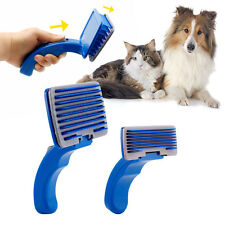 Pet Dog Cat Grooming Self Cleaning Slicker Hair Fur Brush Comb Shedding Tool CGE