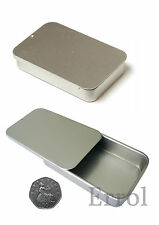 Small Tin. 40ml Container. Sliding Lid 80 x 50 x 15mm Choose Quantity. UK SELLER