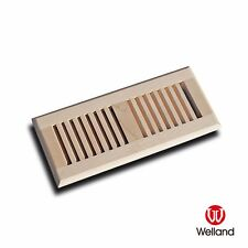 """Welland 4""""x10"""" Self Rimming Solid Wood Floor Vent Multi Colors Species Avail"""