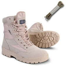 BRITISH MILITARY ARMY DESERT COMBAT PATROL BOOT SAND TAN BEIGE LEATHER COYOTE