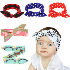 Cute DIY Baby Kids Girl Bow Headband Rabbit Ears Hair band Turban Knot Head Wrap