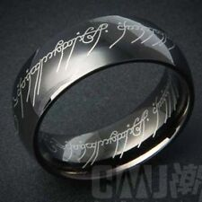 fashion jewelry stainless steel mens Band ring black,size 8,9,10,11,12