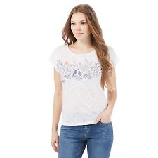 Mantaray Womens White Bird Print T-Shirt From Debenhams