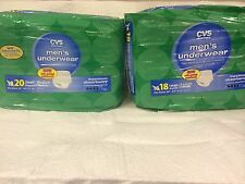 COMPARE TO DEPEND MEN'S UNDERWEAR MAXIMUM ABSORBENCY SMALL MEDIUM LARGE XLARGE