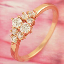 Womens Rose Gold Filled Clear Cubic Zirconia engagement Ring,size 6,7 eternity